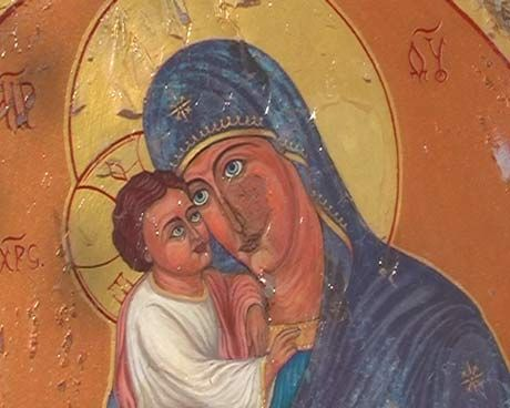 Ikone Wandmalerei Kapelle